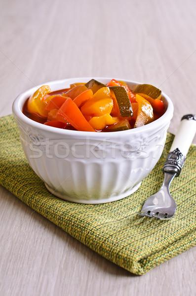 サラダ 準備 パプリカ ズッキーニ 美しい セラミック ストックフォト © zia_shusha