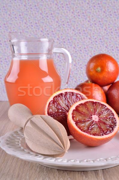 Rosso arancione taglio alimentare legno piatto Foto d'archivio © zia_shusha