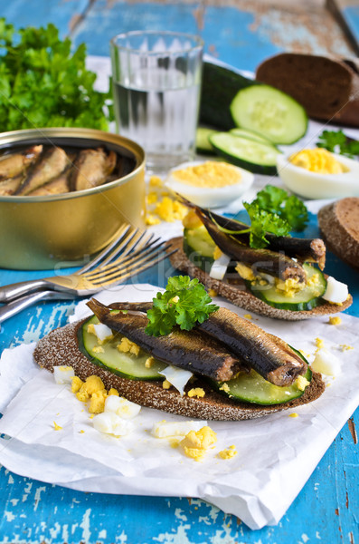 Sandwich with fish Stock photo © zia_shusha