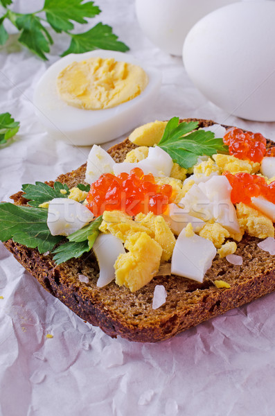 Crumbled boiled egg  Stock photo © zia_shusha