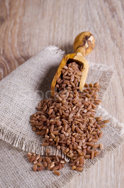 Stok fotoğraf: Pirinç · kahverengi · tahıl · kırmızı · fincan · Hint