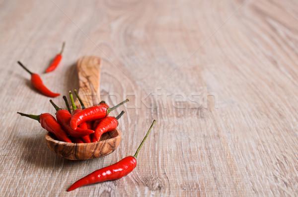 кайенский перец перец красный свежие поверхность Сток-фото © zia_shusha