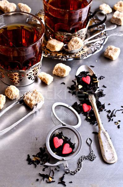 чай конфеты форма сердце металл продовольствие Сток-фото © zia_shusha