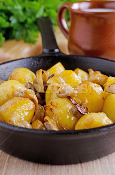 Potatoes with mushrooms Stock photo © zia_shusha