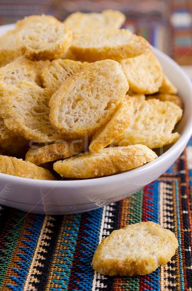 Pão branco servido prato comida pão Foto stock © zia_shusha