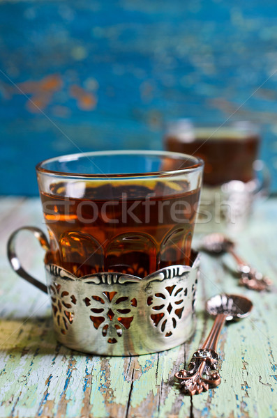 Brown tea in a glass Cup Stock photo © zia_shusha