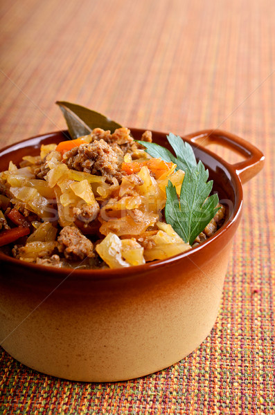 Cabbage stewed with meat  Stock photo © zia_shusha