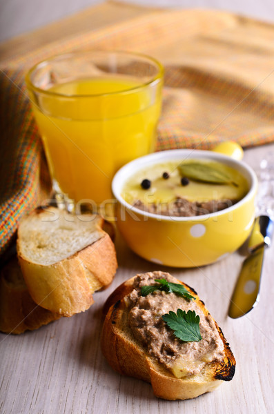 Sandwich with meat pate Stock photo © zia_shusha