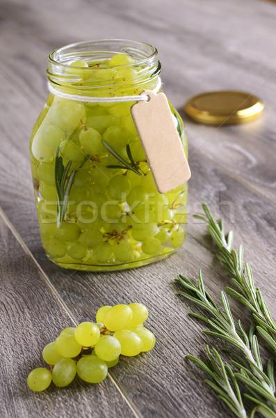 Szőlő megőrzött rozmaring üveg bögre étel Stock fotó © zia_shusha