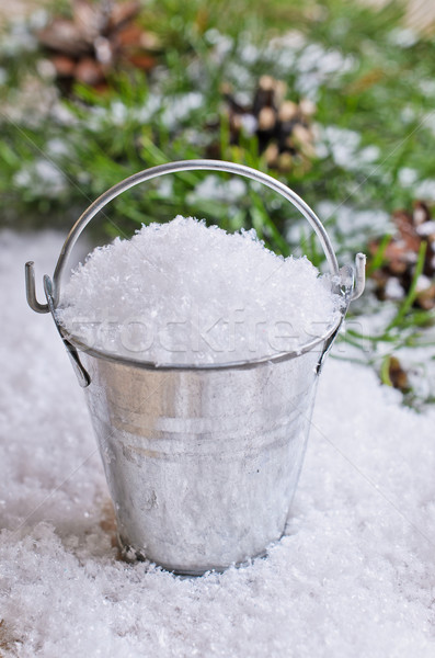 Bucket with snow Stock photo © zia_shusha