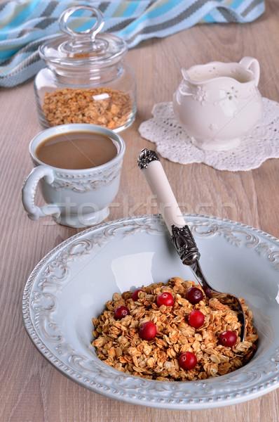 Dieet- haver Blauw plaat voedsel Stockfoto © zia_shusha