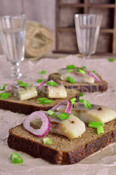 Cipolle tostato pane Foto d'archivio © zia_shusha