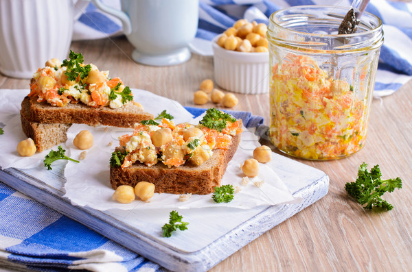 Sandwich carottes fromages salade carotte alimentaire Photo stock © zia_shusha