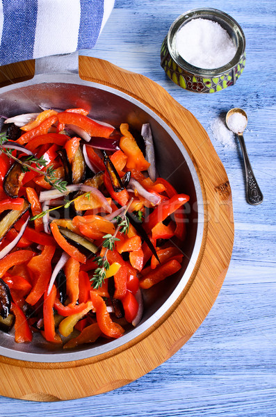 The vegetables in the pan Stock photo © zia_shusha