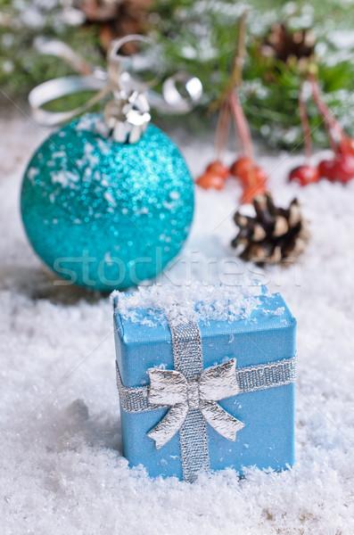 Natal presentes decorações branco neve Foto stock © zia_shusha