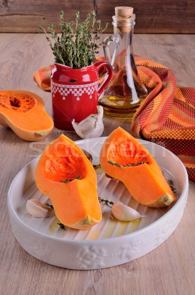Two quarters pumpkin  Stock photo © zia_shusha