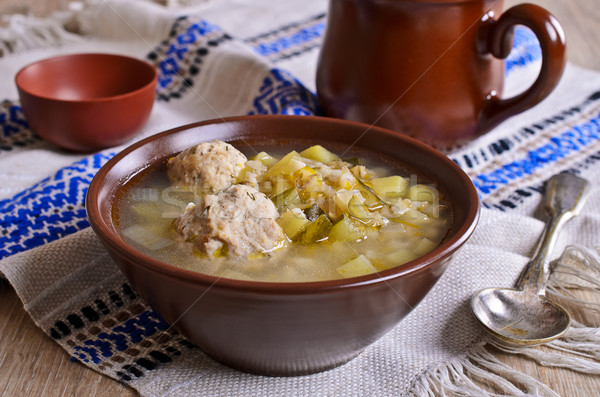 Thick soup Stock photo © zia_shusha