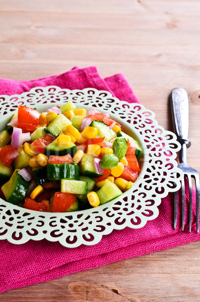 Salad with fresh vegetables Stock photo © zia_shusha
