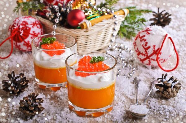 étel narancs krém sajt piros kaviár Stock fotó © zia_shusha