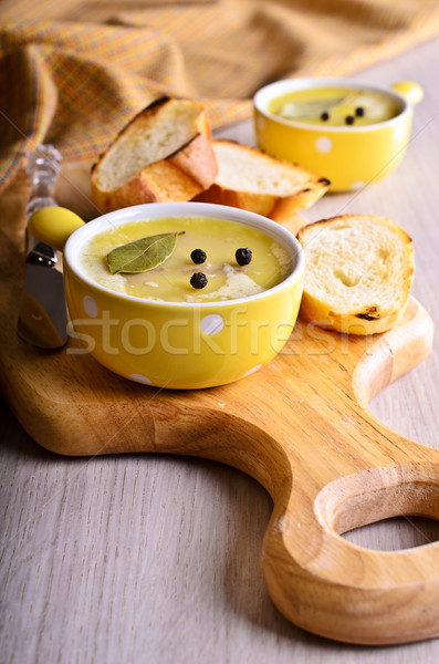 Stock photo: Pate covered with fat