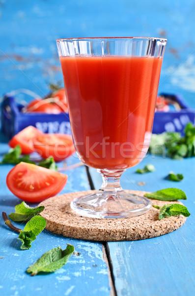 トマトジュース ガラス ミント 葉 ボックス トマト ストックフォト © zia_shusha