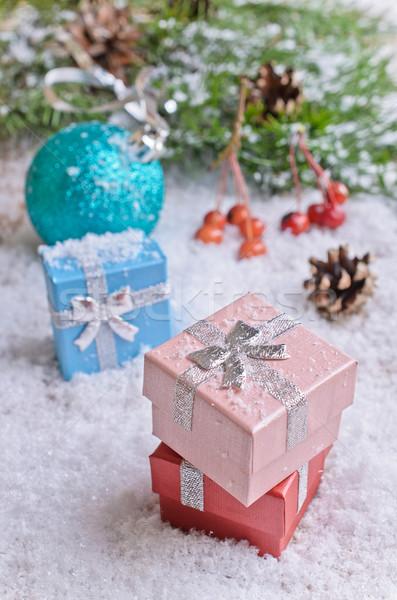 Natale regali decorazioni bianco neve Foto d'archivio © zia_shusha