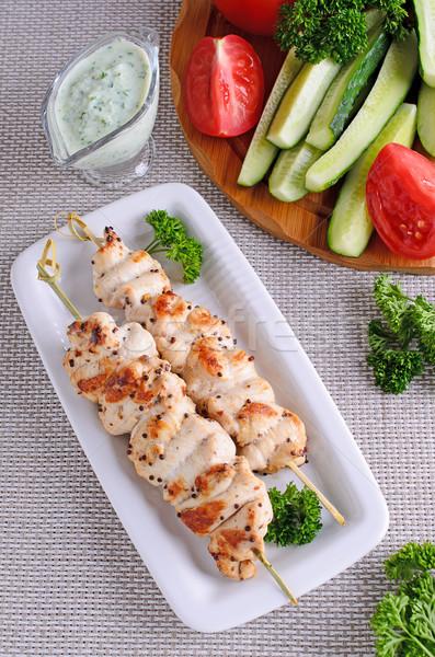 Kurczaka kebab la grillowany kurczak żywności Zdjęcia stock © zia_shusha