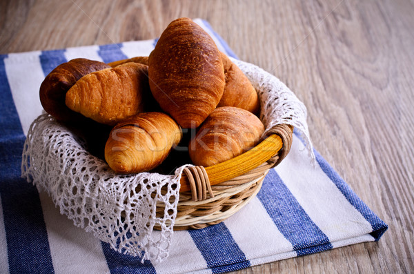 Croissants in a basket Stock photo © zia_shusha