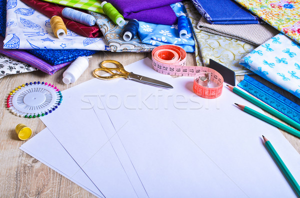Stock photo: Accessories for the tailor or designer