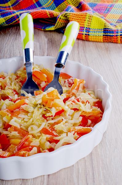 Légumes céramique plat alimentaire Photo stock © zia_shusha