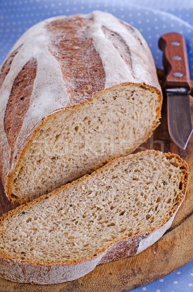 Brood gesneden brood bruin kleur voedsel Stockfoto © zia_shusha