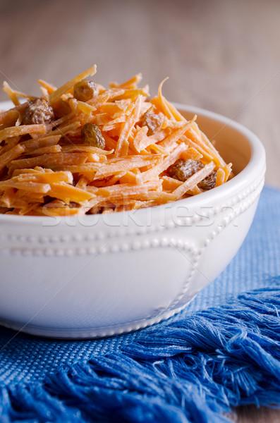 Vegetal salada fresco polido cenouras Foto stock © zia_shusha