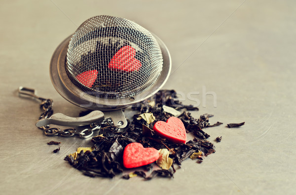 Tea on the background of the strainer Stock photo © zia_shusha