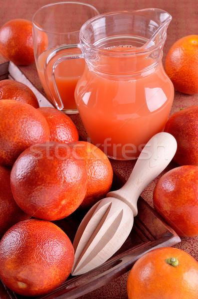 Vermelho laranja bandeja outro comida vidro Foto stock © zia_shusha