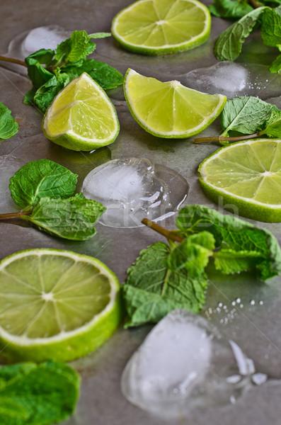 Mint, lime, ice Stock photo © zia_shusha