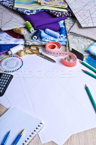 Sastre disenador limpio blanco moda Foto stock © zia_shusha