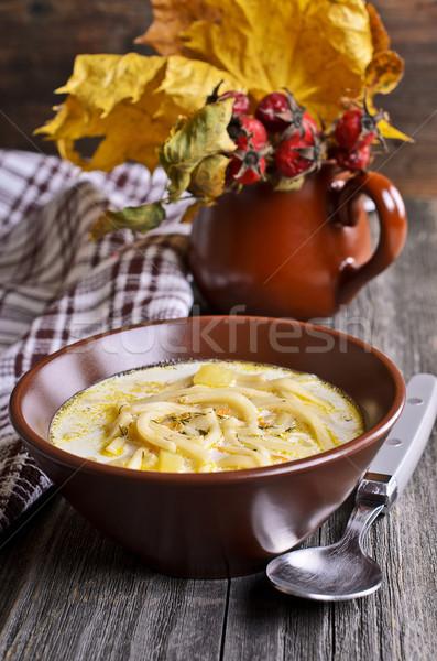 Soup with pasta Stock photo © zia_shusha