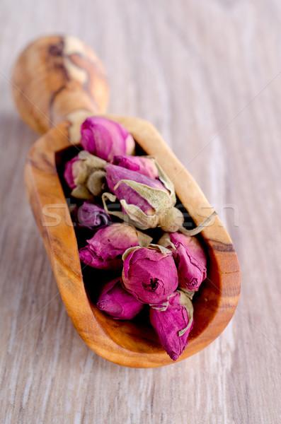 Kurutulmuş gül çay çiçek sağlık pembe Stok fotoğraf © zia_shusha