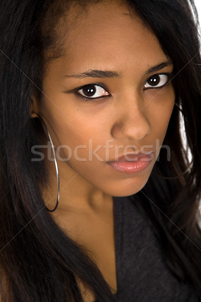 молодые красивой афро женщину портрет моде Сток-фото © zittto