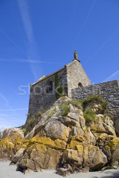 святой часовня морем Церкви архитектура религии Сток-фото © zittto
