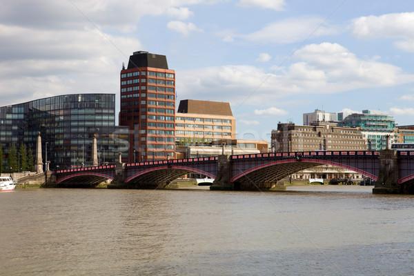 Temze London kilátás folyó öreg új Stock fotó © zittto