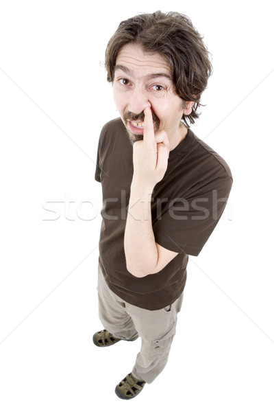 Mann jungen weiß Mode Stock foto © zittto