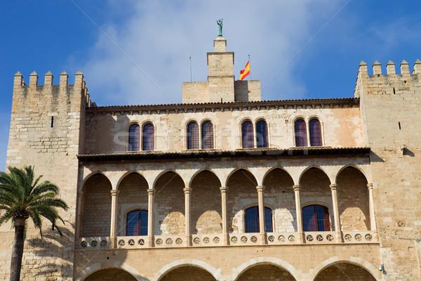 Mallorca catedral Espanha céu arte palma Foto stock © zittto