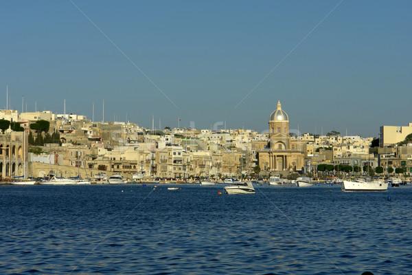 Malta oude architectuur eiland haven hemel Stockfoto © zittto
