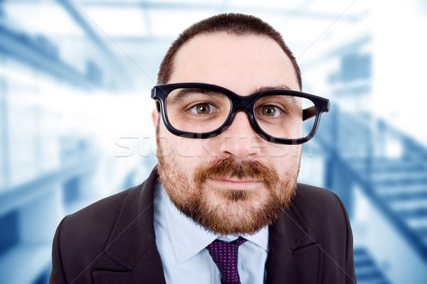 глупый молодые деловой человек портрет служба бизнеса Сток-фото © zittto