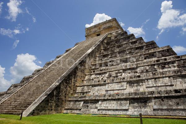 Chichen Itza eski piramit tapınak Bina seyahat Stok fotoğraf © zittto