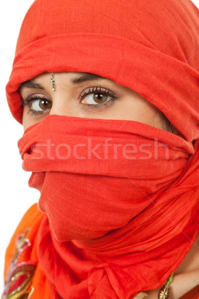 Peçe genç kadın portre stüdyo resim Stok fotoğraf © zittto