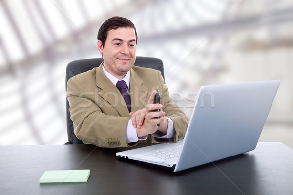 çalışma genç iş adamı iş ofis adam Stok fotoğraf © zittto