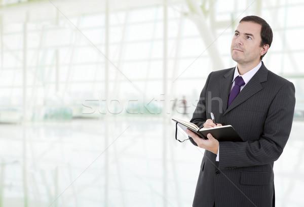 Yazı genç işadamı kitap ofis defter Stok fotoğraf © zittto
