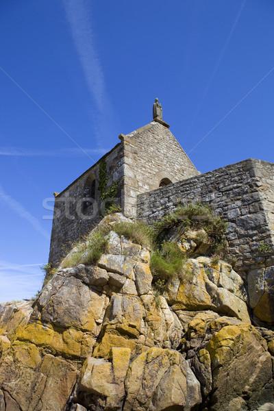 Capela mar igreja arquitetura religião Foto stock © zittto